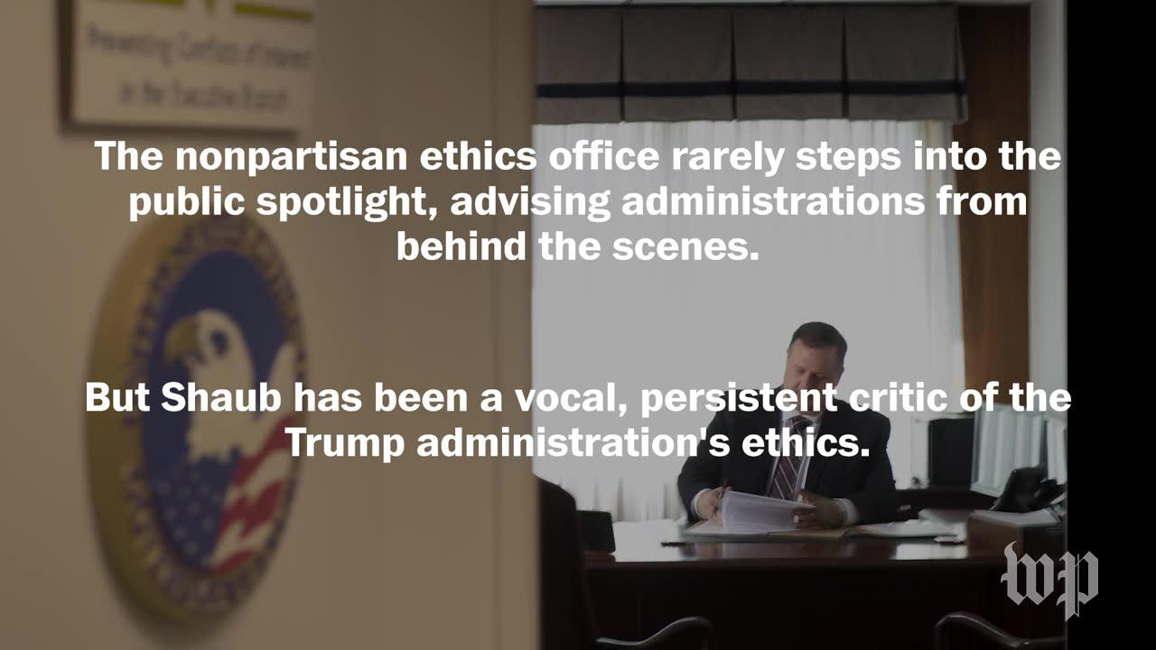 One of trump's most persistent ethics critics just resigned
