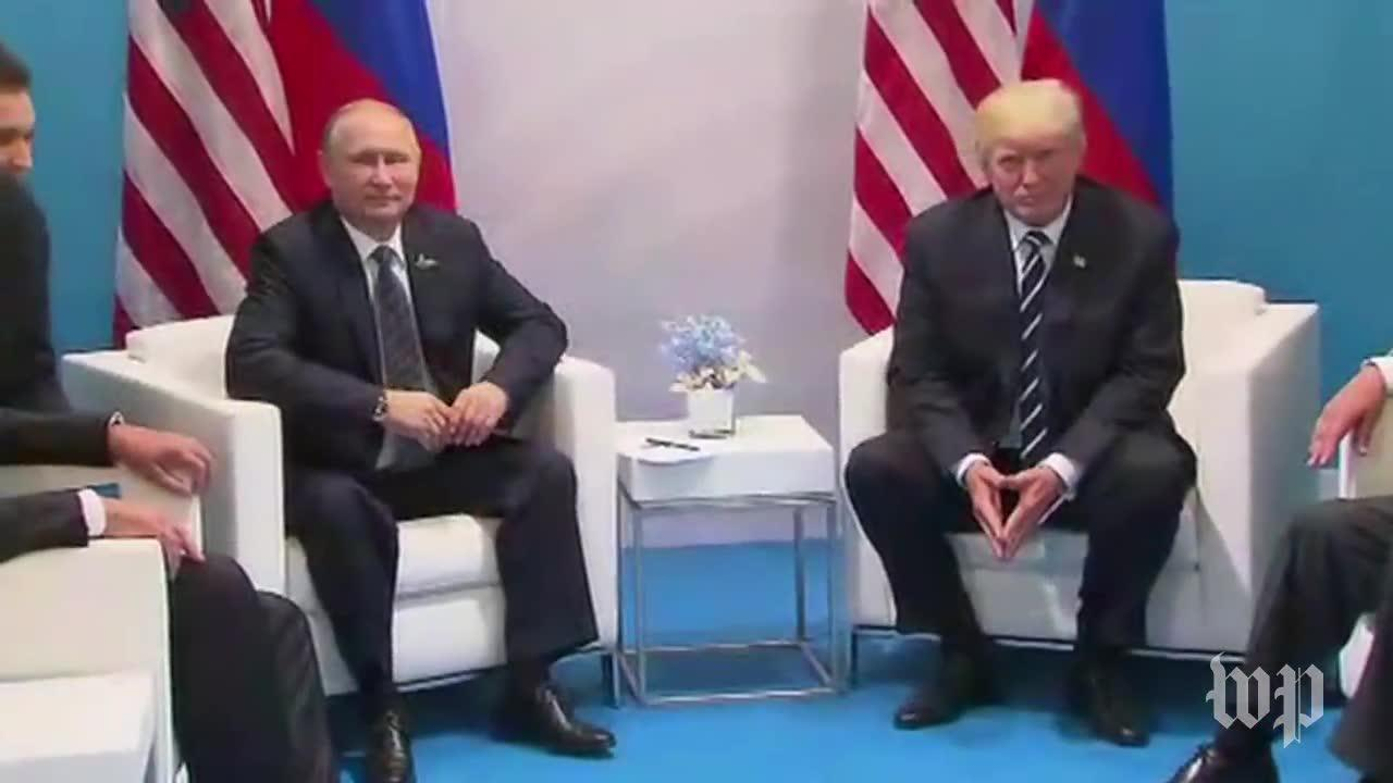 President trump and vladimir putin hold first face-to-face talks