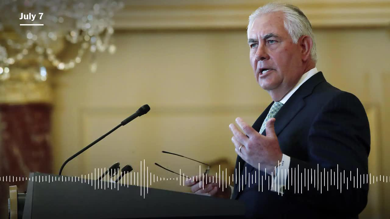 Tillerson: trump 'pressed' putin on election interference