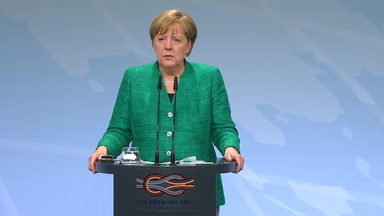 Watch: german chancellor angela merkel's news conference following the g-20