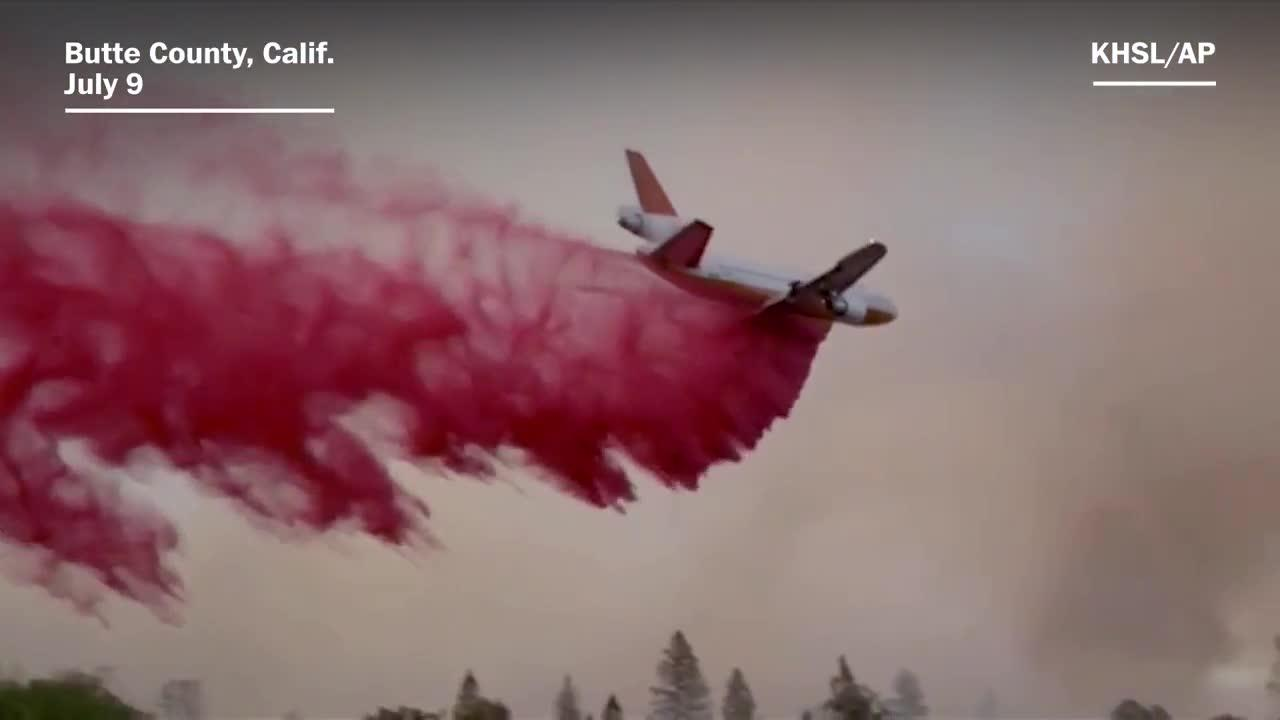 Firefighters work to contain wildfires throughout california