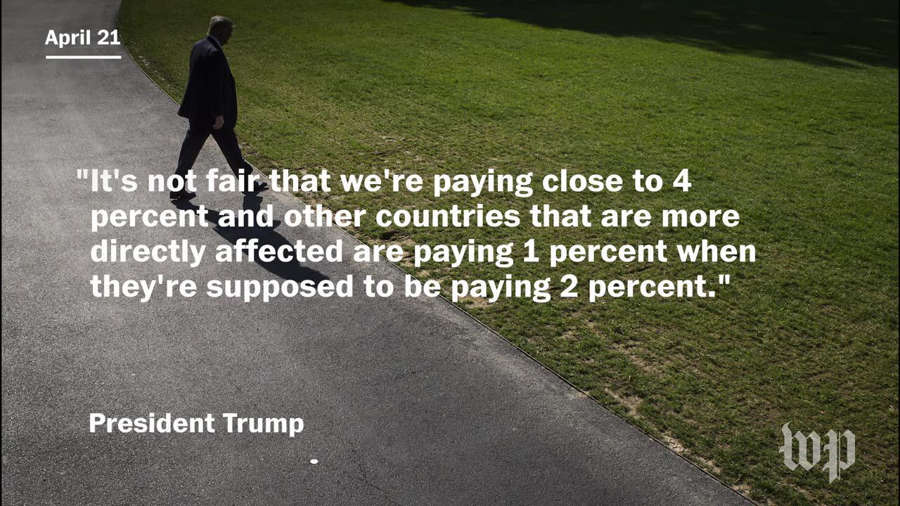 President trump's ongoing misunderstanding of nato funding
