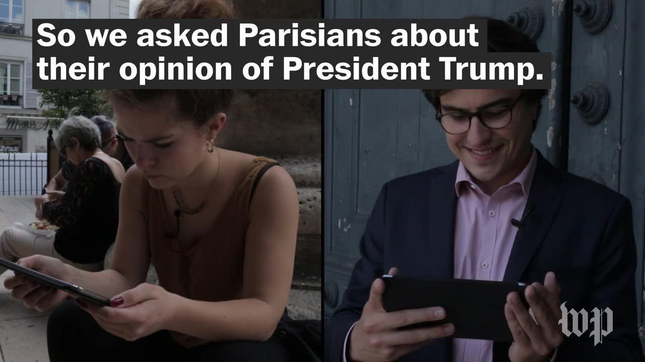 What parisians think of trump
