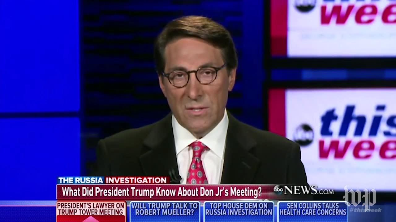 President'S Lawyer: Trump Didn'T Know About His Son'S Meeting With Russians