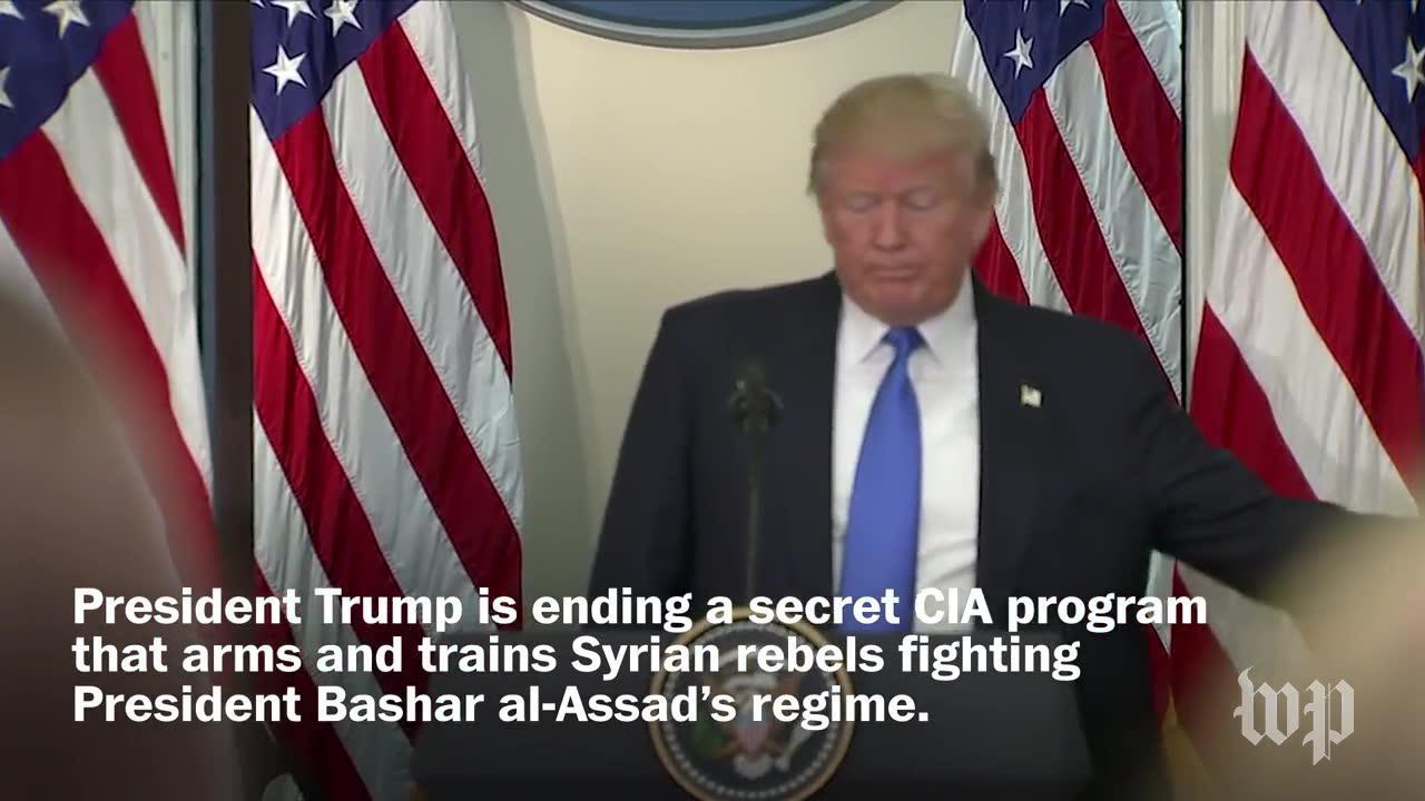Trump Is Shutting Down A Secret Cia Program In Syria