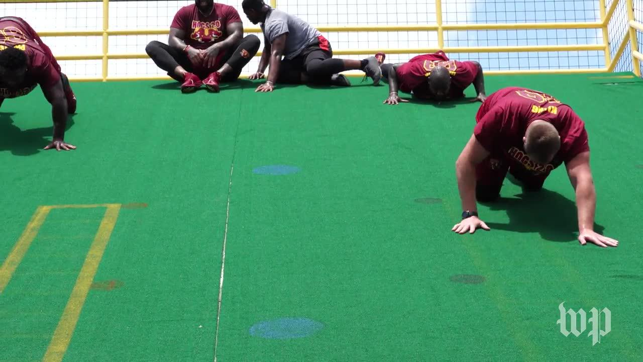 The New 'Hogs' Of The Washington Redskins Bond Over Sweat, Steaks