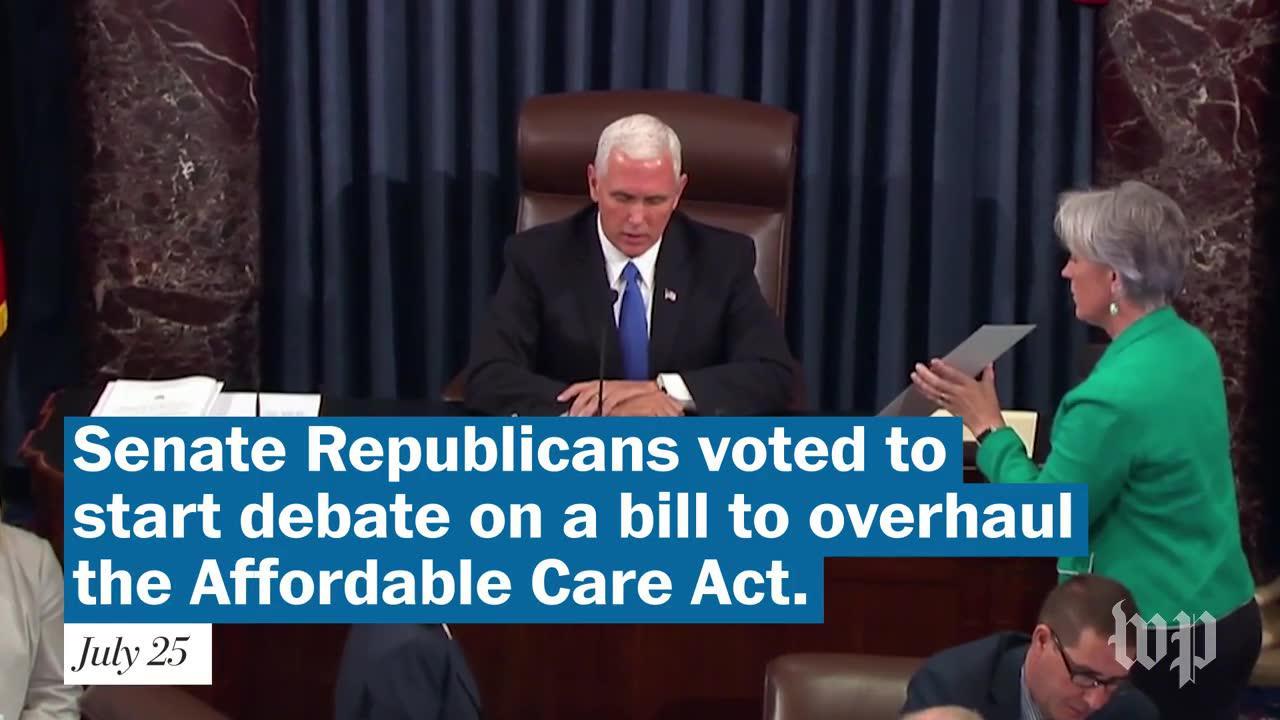 Senate Votes To Start Health-Care Debate As Mccain Returns To Capitol Hill