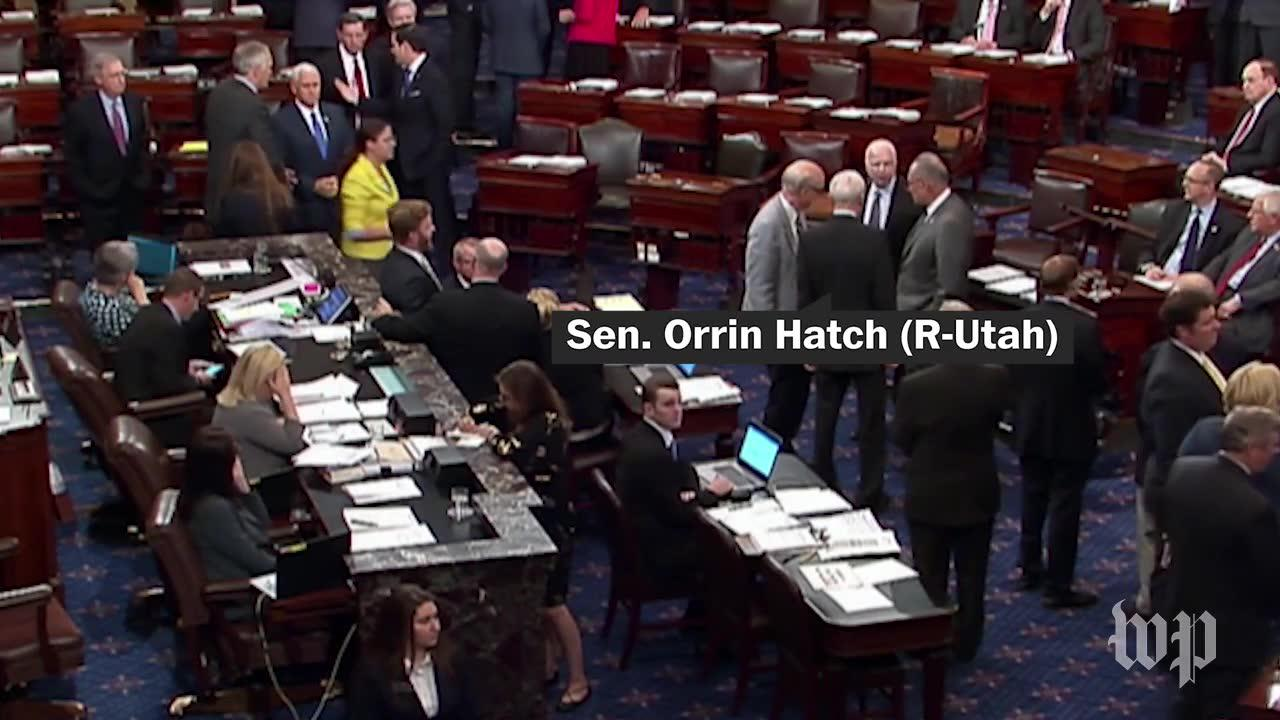 Hatch Hugs Mccain Before 'Skinny Repeal' Vote