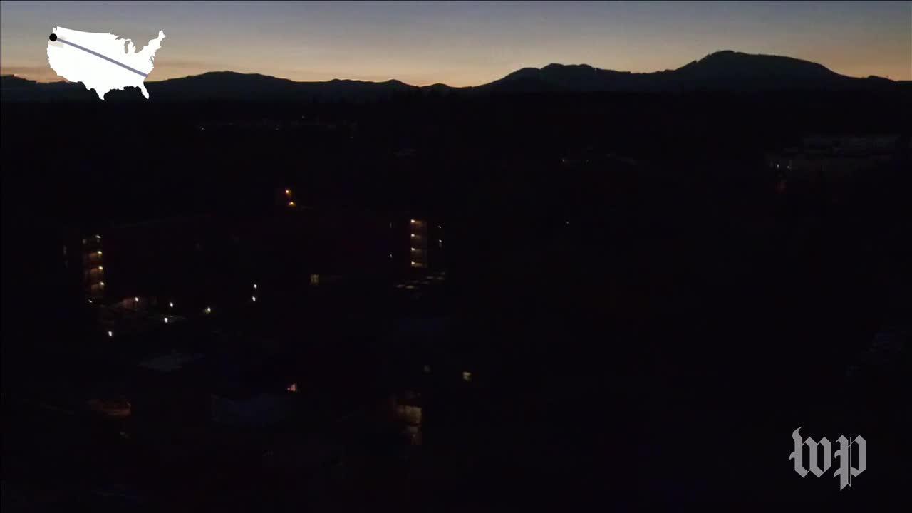 Drone Footage Captures Total Eclipse Over Oregon