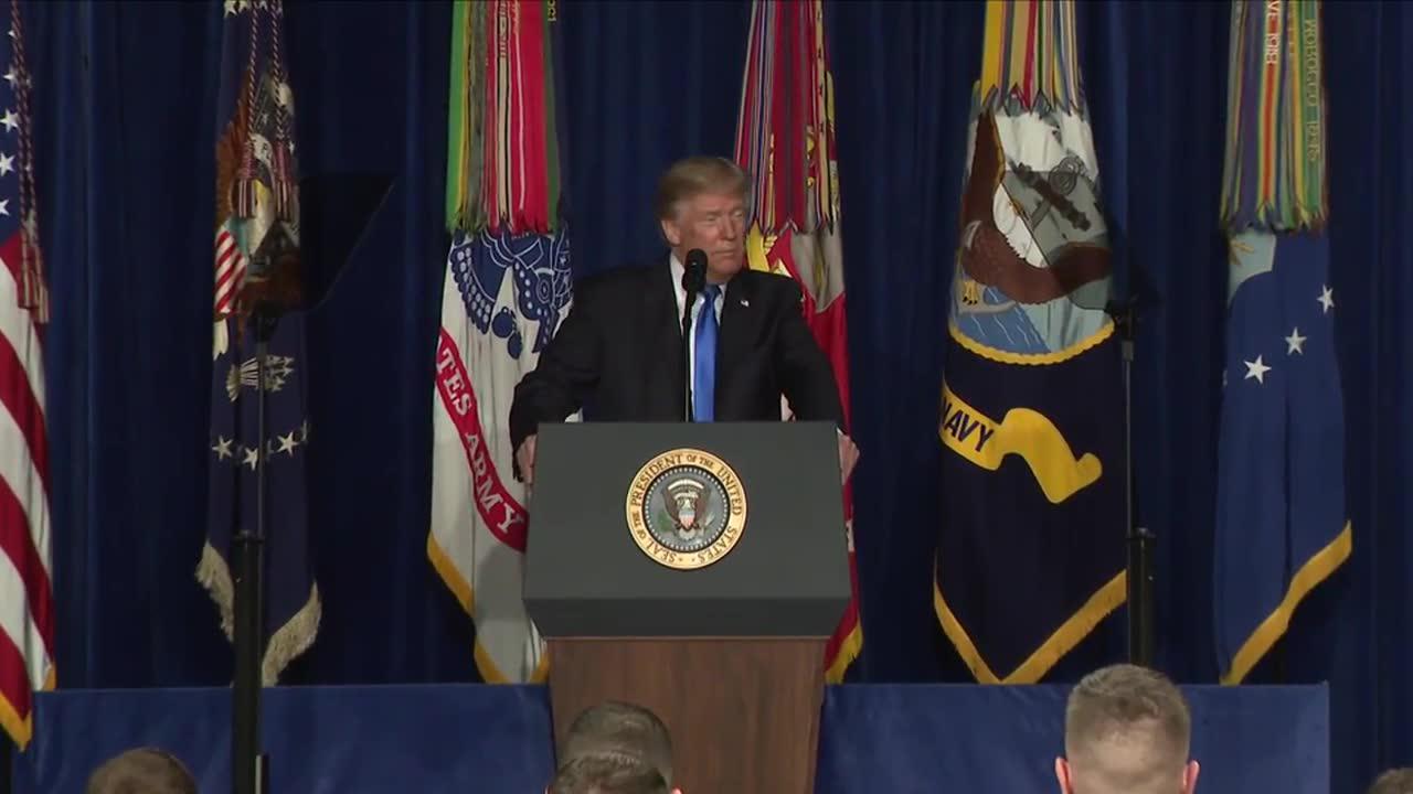 Trump'S Full Speech On Afghanistan