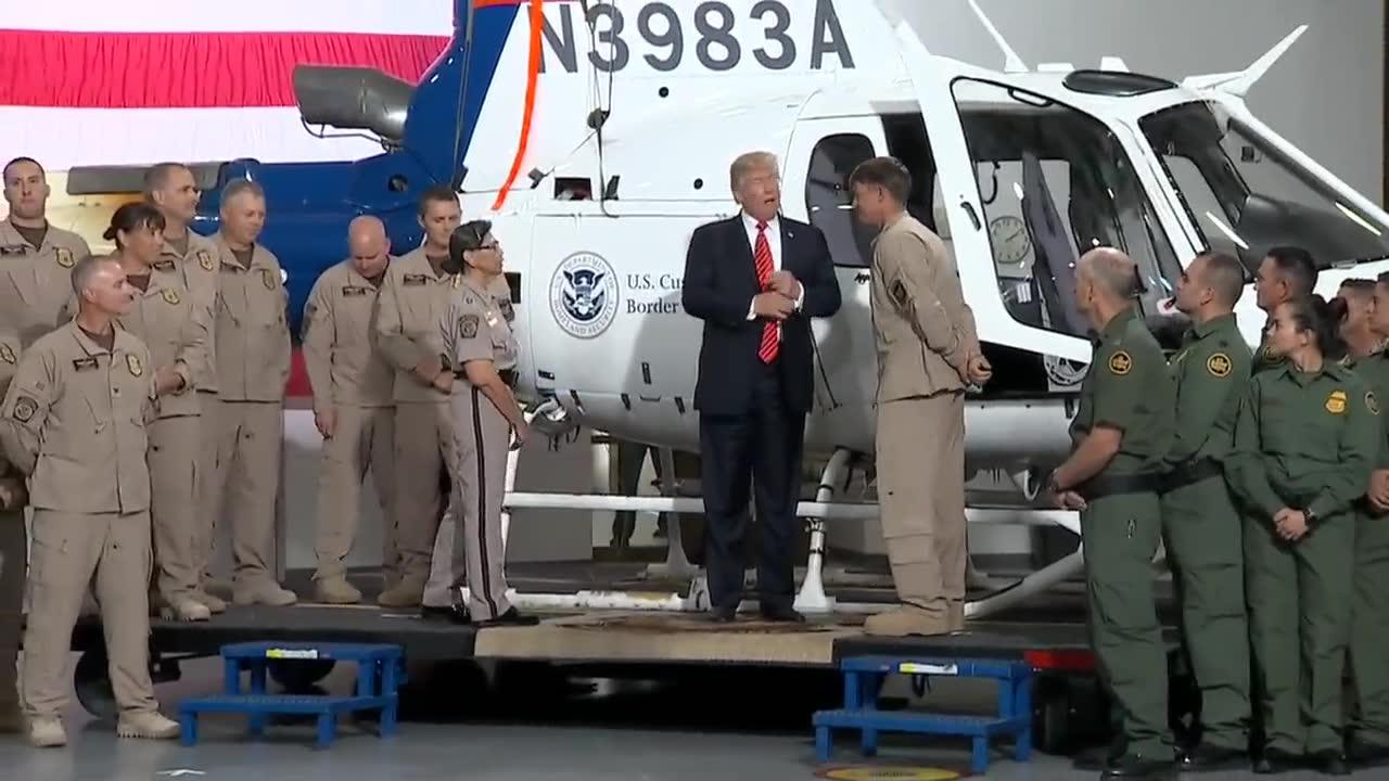 Trump Tours Border Security Equipment