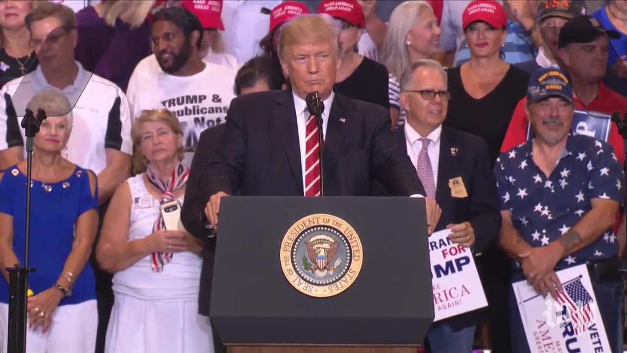 Trump Renews Attacks Against Media To Crowd Chanting 'Cnn Sucks'