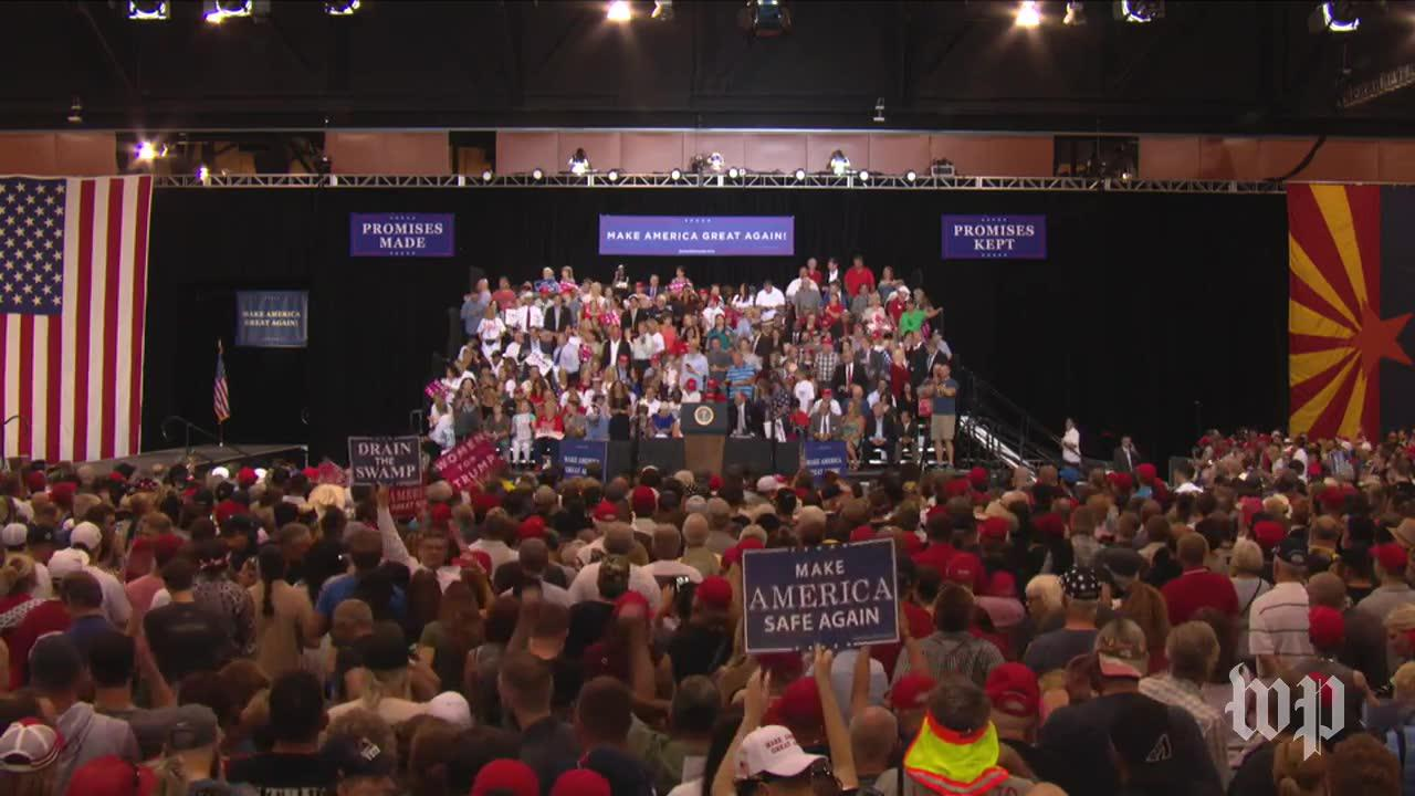 Announcer Introduces Ben Carson At Trump'S Rally In Phoenix