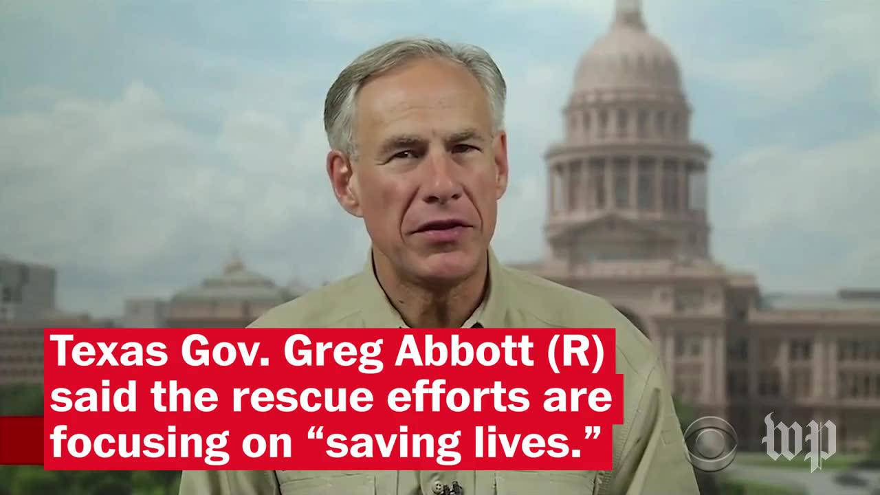 Texas Governor, Trump, And Other Officials Address Response To Storm