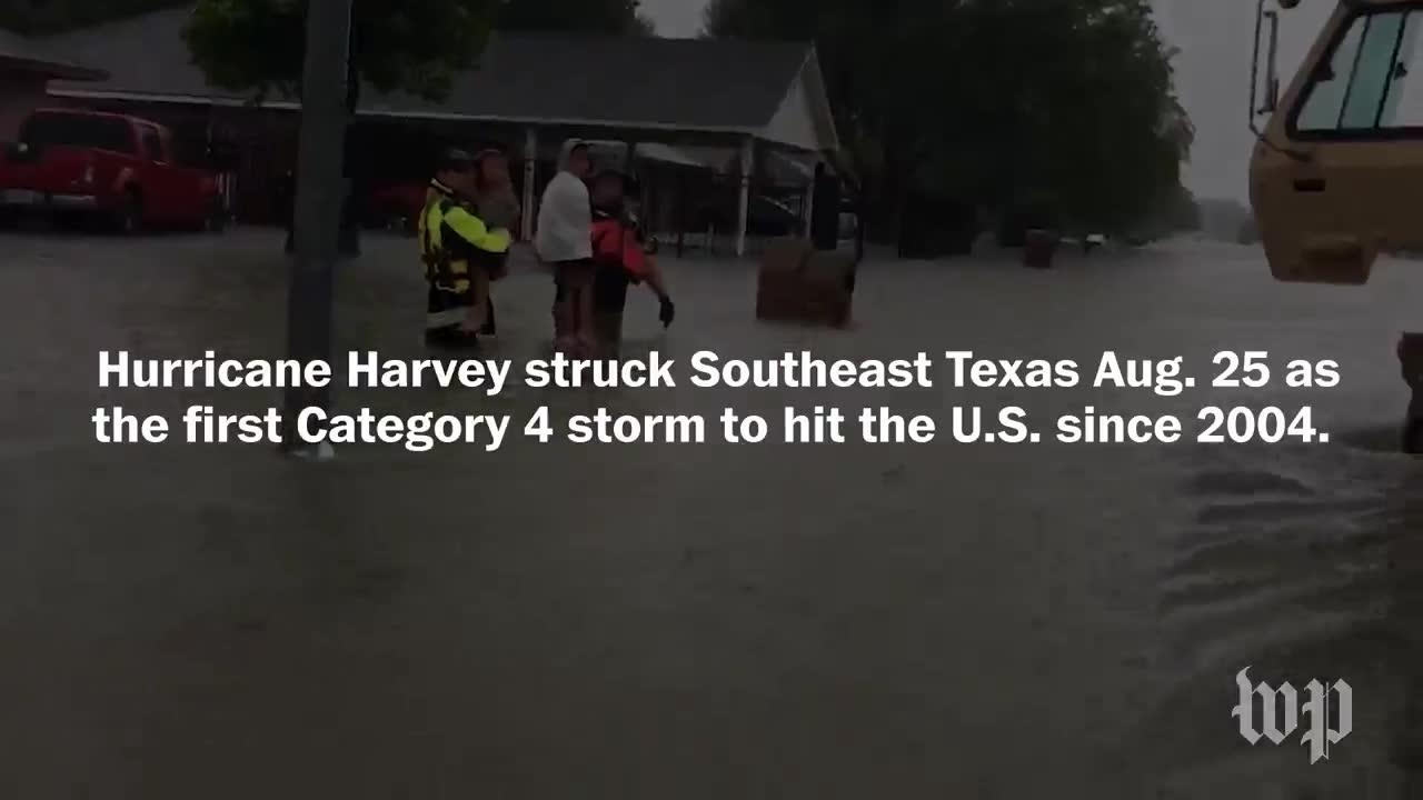 Texans Battle Against Harvey'S Destruction