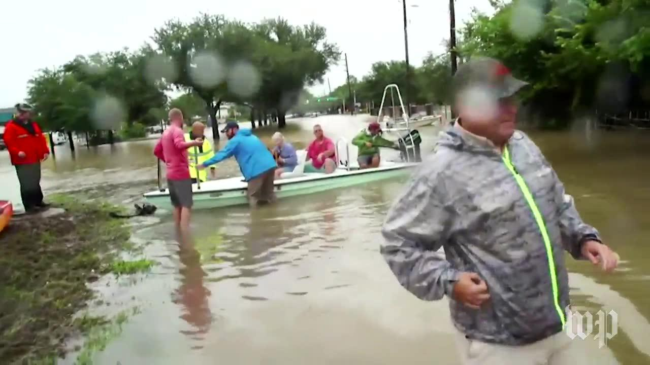 Houston Residents Evacuate As Flooding Continues