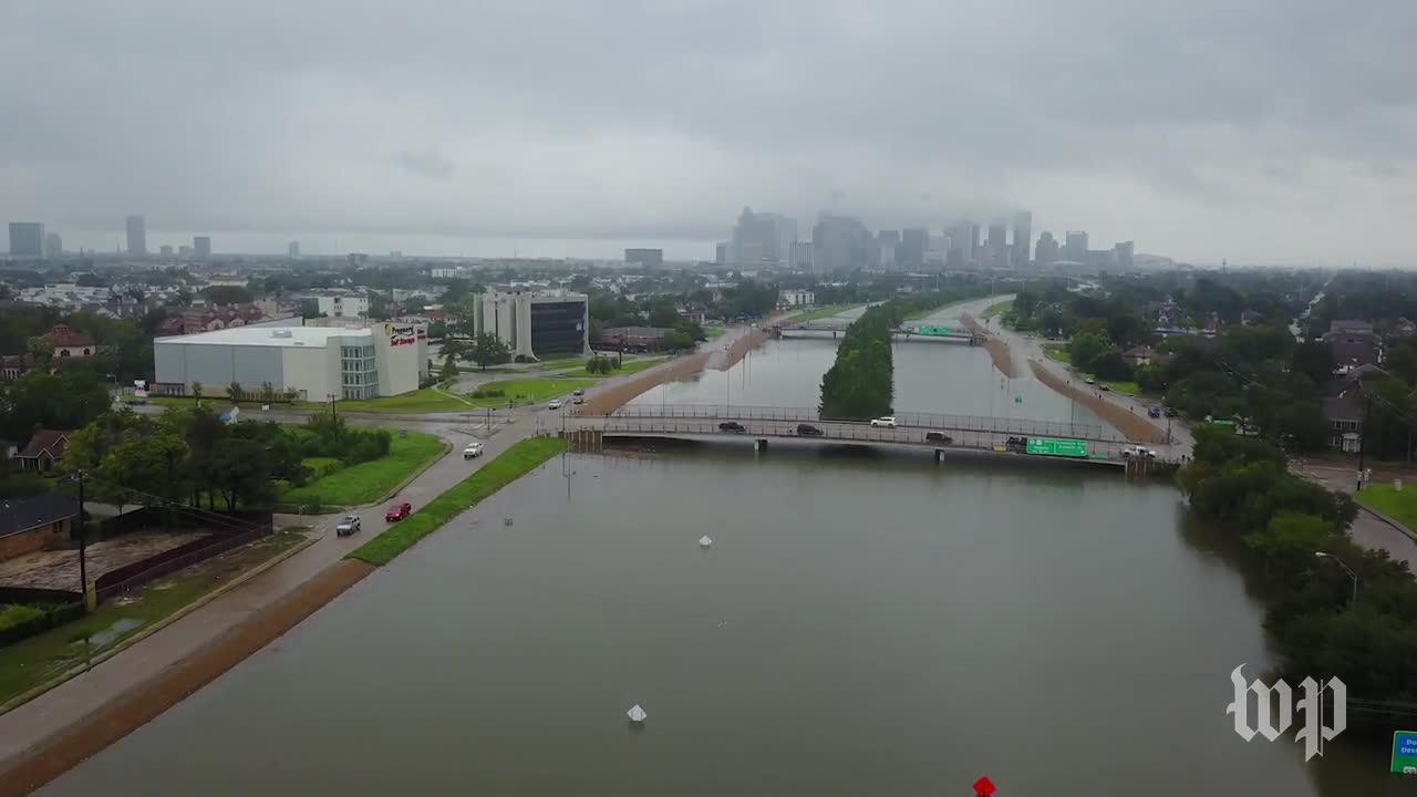 Drone Footage Of Houston Floods