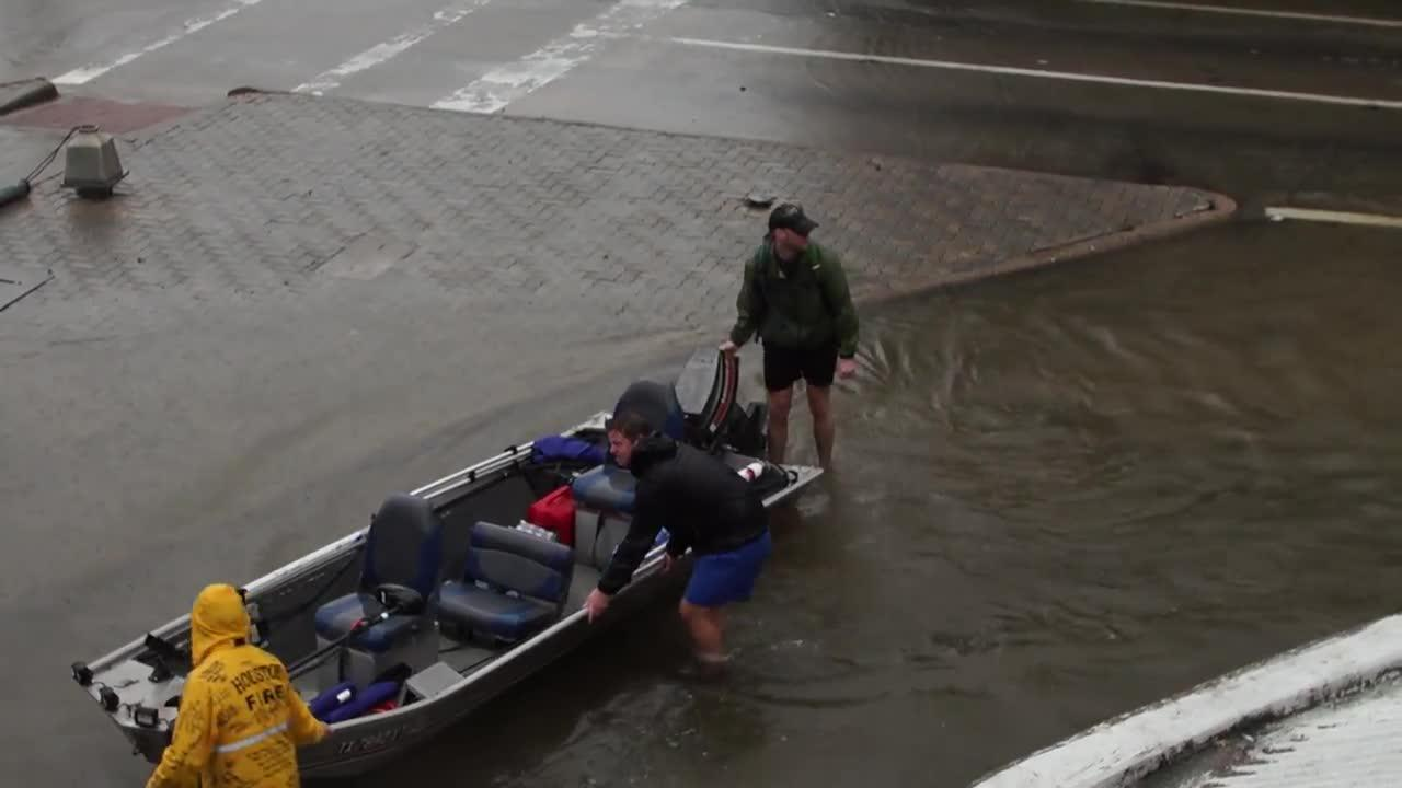 Historic Levels Of Rainfall Flood Houston'S Streets