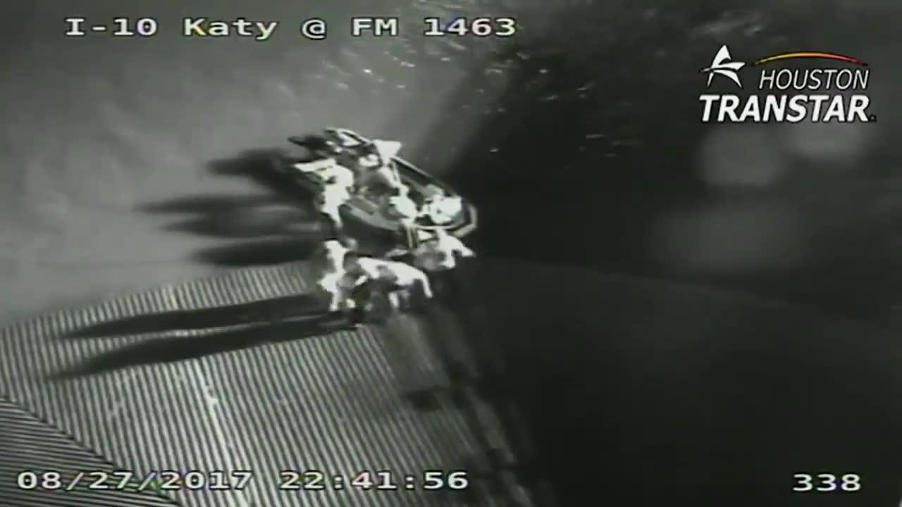Houston Rescue Captured On Traffic Camera