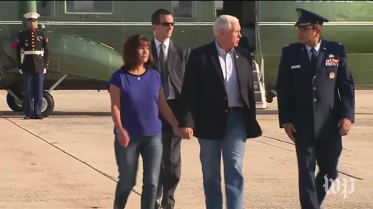 Pence Departs To Visit Texas