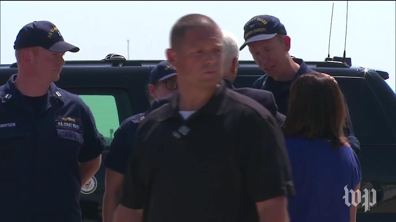 Pence Arrives In Texas To Survey Storm Damage