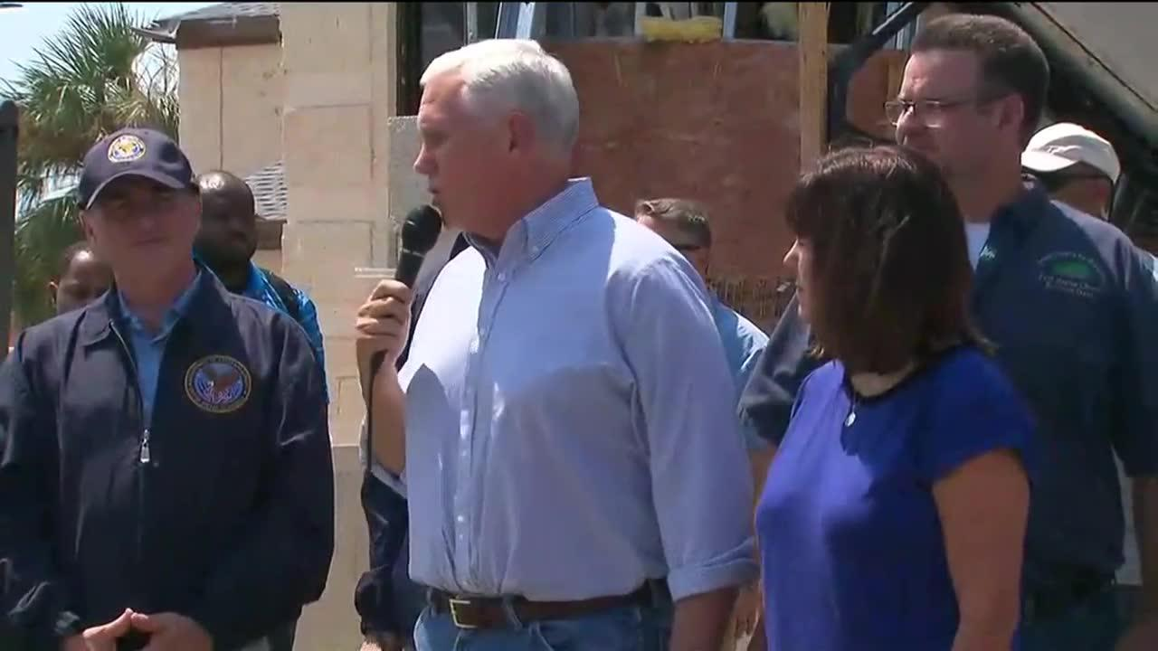 Pence Tells Texans 'We Are With You'