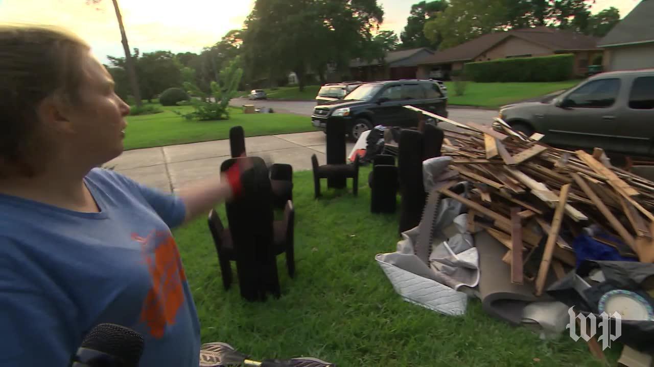 Debris Lines Houston Streets As Residents Rebuild After Harvey