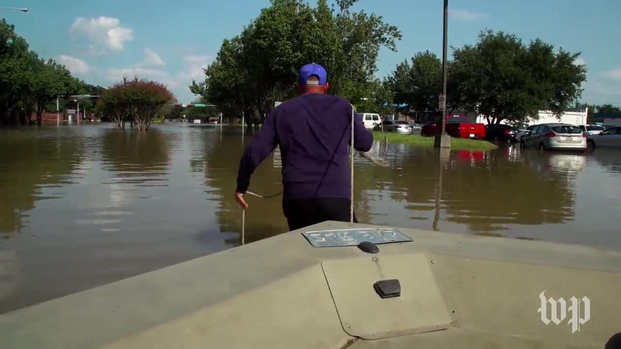 Volunteers Direct Boat Traffic, Deliver Groceries To Flood Victims