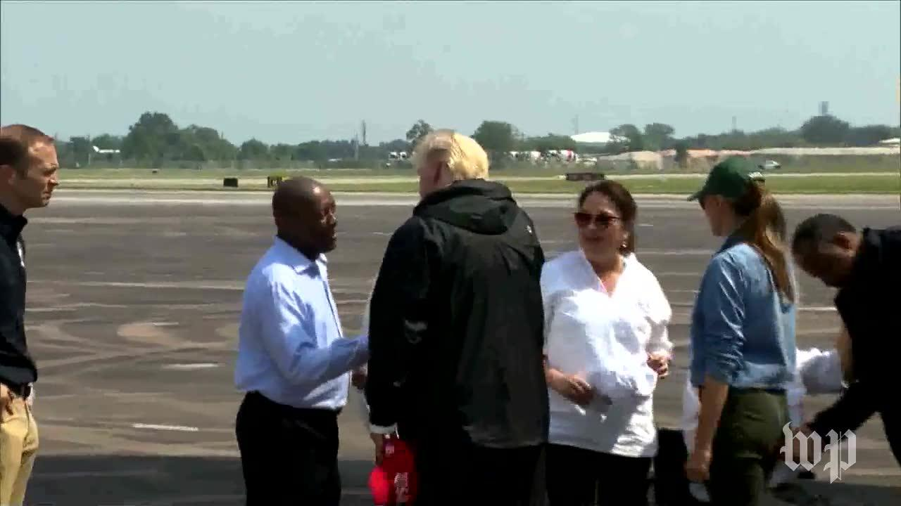 President Trump, First Lady Visit Texas For Second Time After Harvey