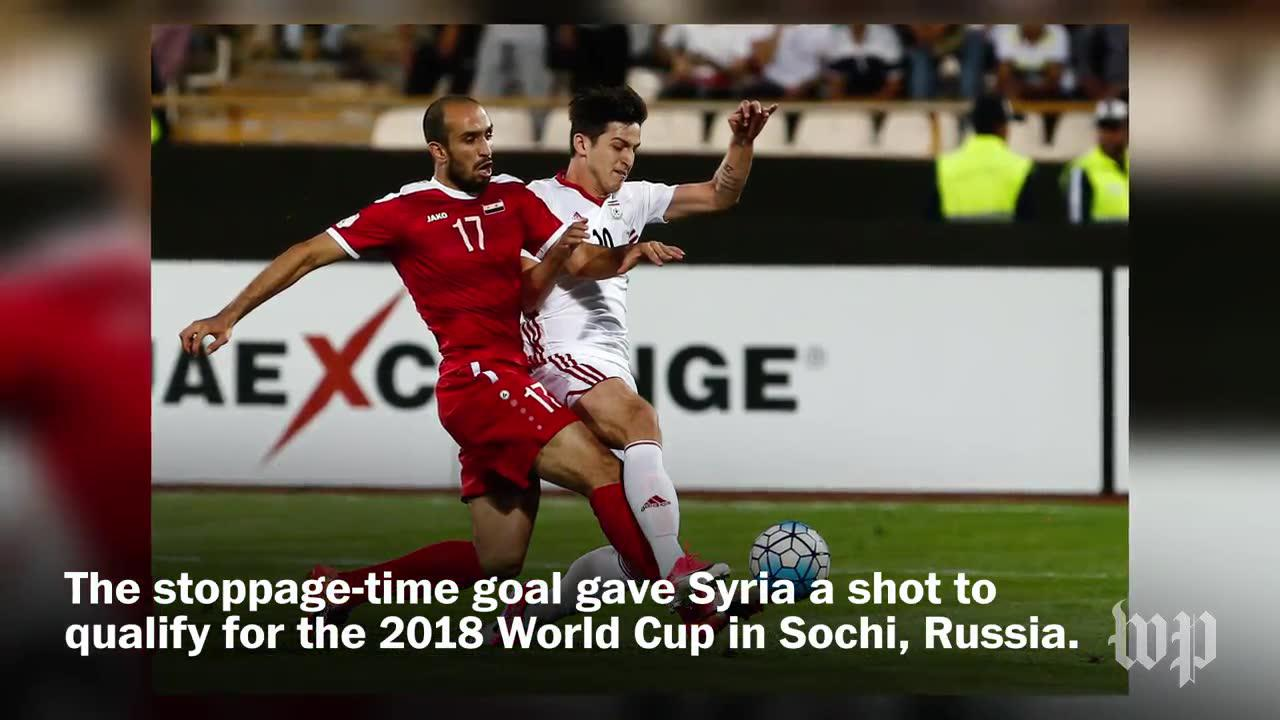 Syrians Celebrate Improbable Draw Against Iran In World Cup Qualifier