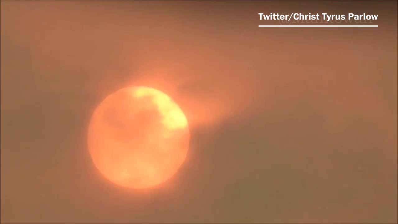 Stunning Video Captures Wildfire Ravaging Oregon