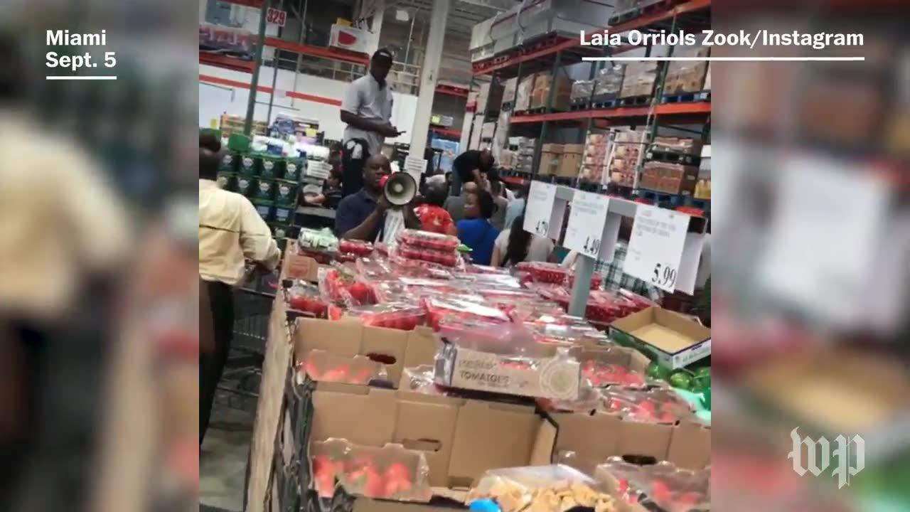 Floridians Scramble To Buy Water Ahead Of Hurricane Irma