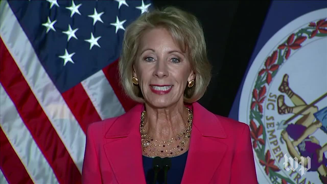 Devos Calls For Changes To Help Survivors And Those Accused Of Cam_...