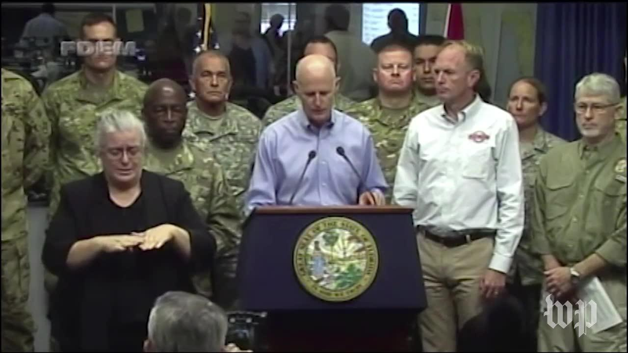 Gov. Rick Scott Says Hurricane Irma'S Arrival Is A 'Life Threateni_...