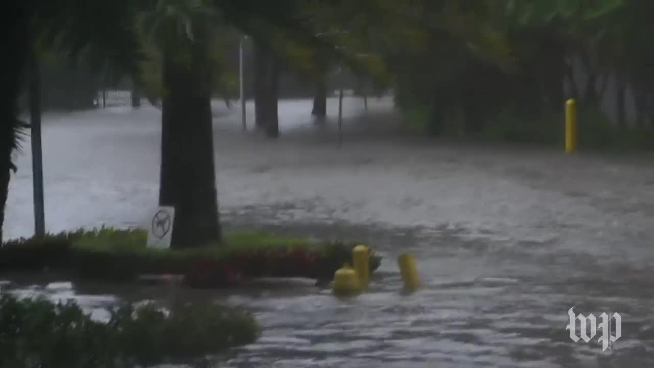 Video Shows Dangerous Storm Surge In Downtown Miami