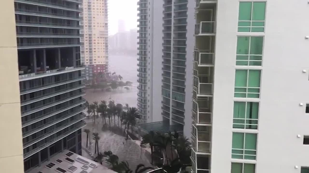 View Of Hurricane Irma From Miami'S Financial District