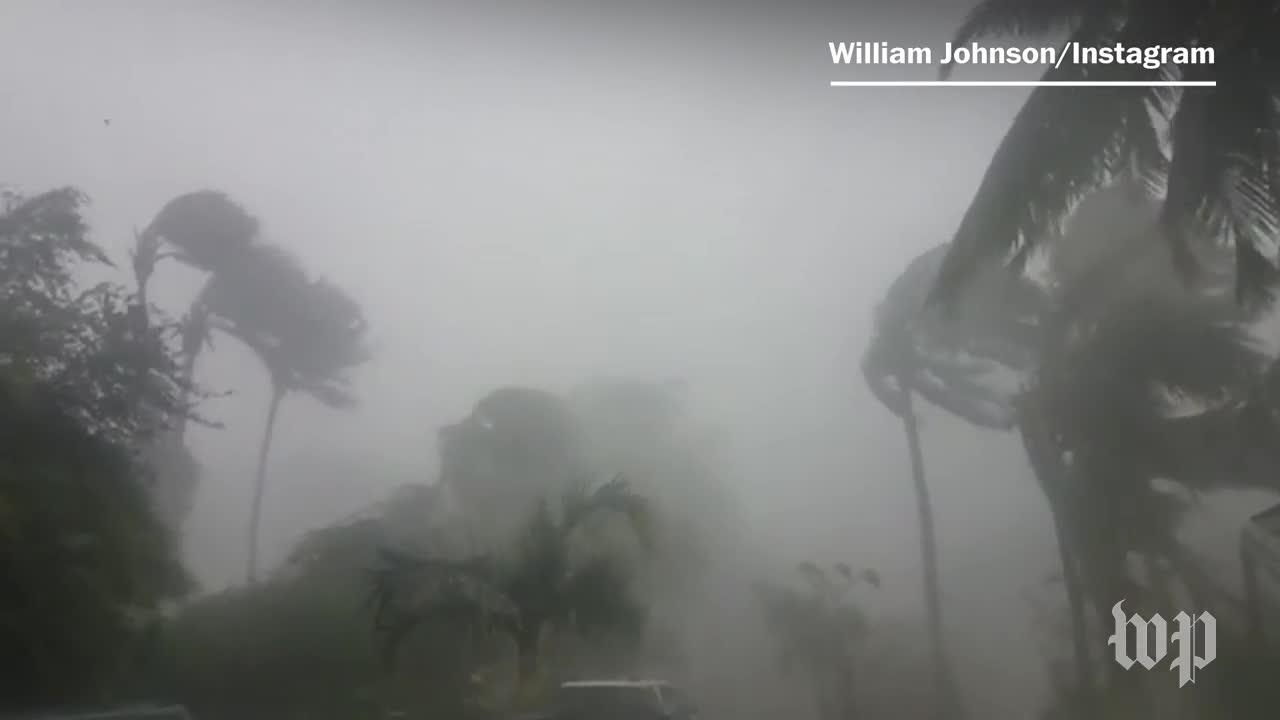 Watch Gas Station Roof Appear To Break In Hurricane Irma