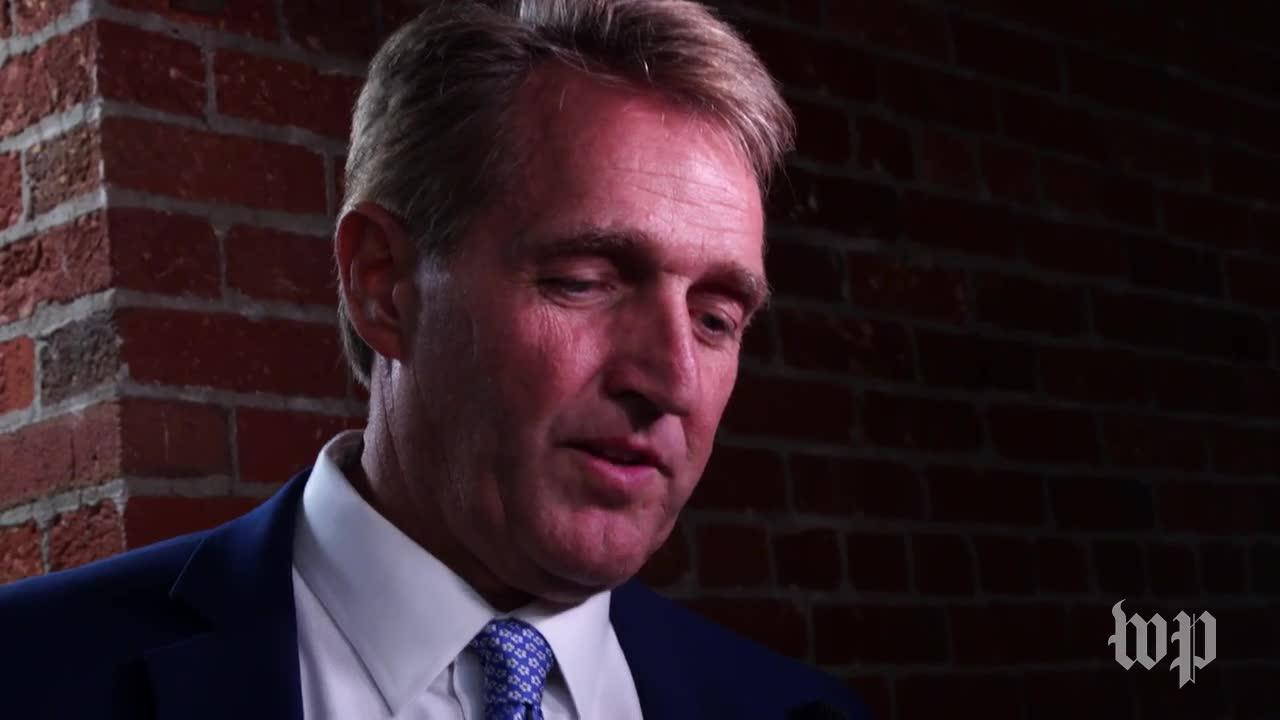 Flake Says He'S 'Glad' Trump Is Talking To Democrats