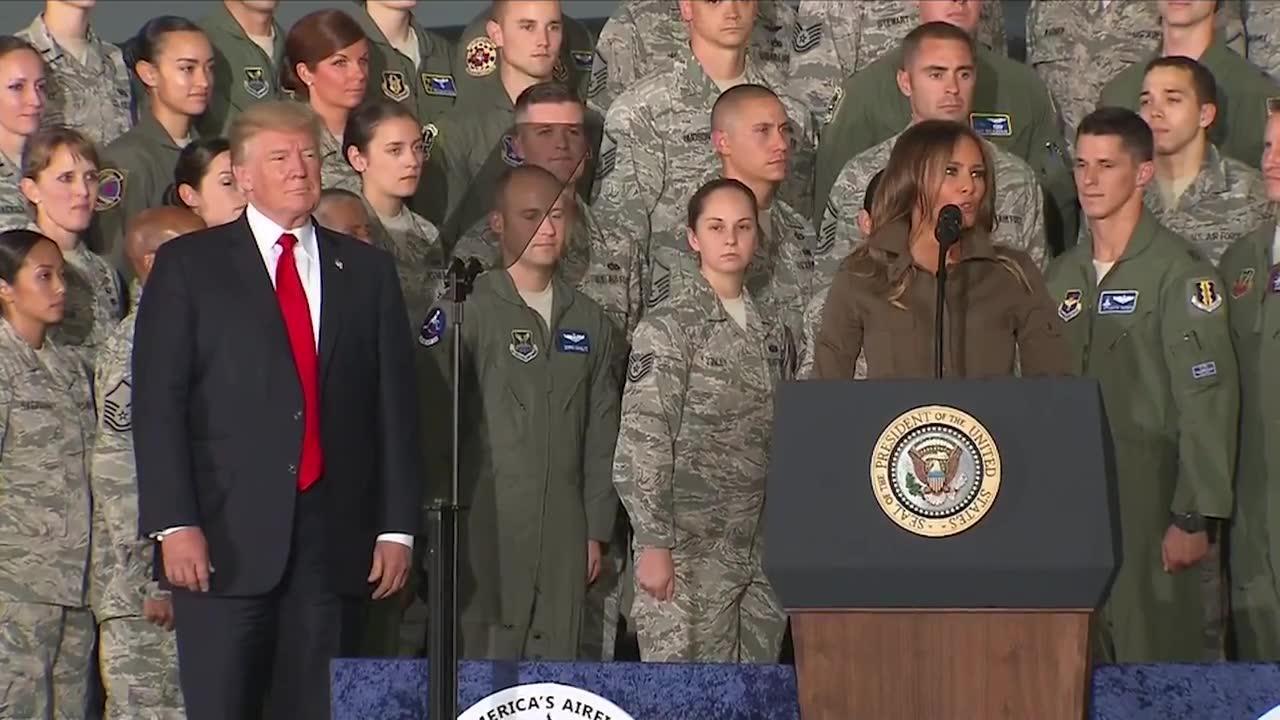 Melania Trump Speaks At Joint Base Andrews