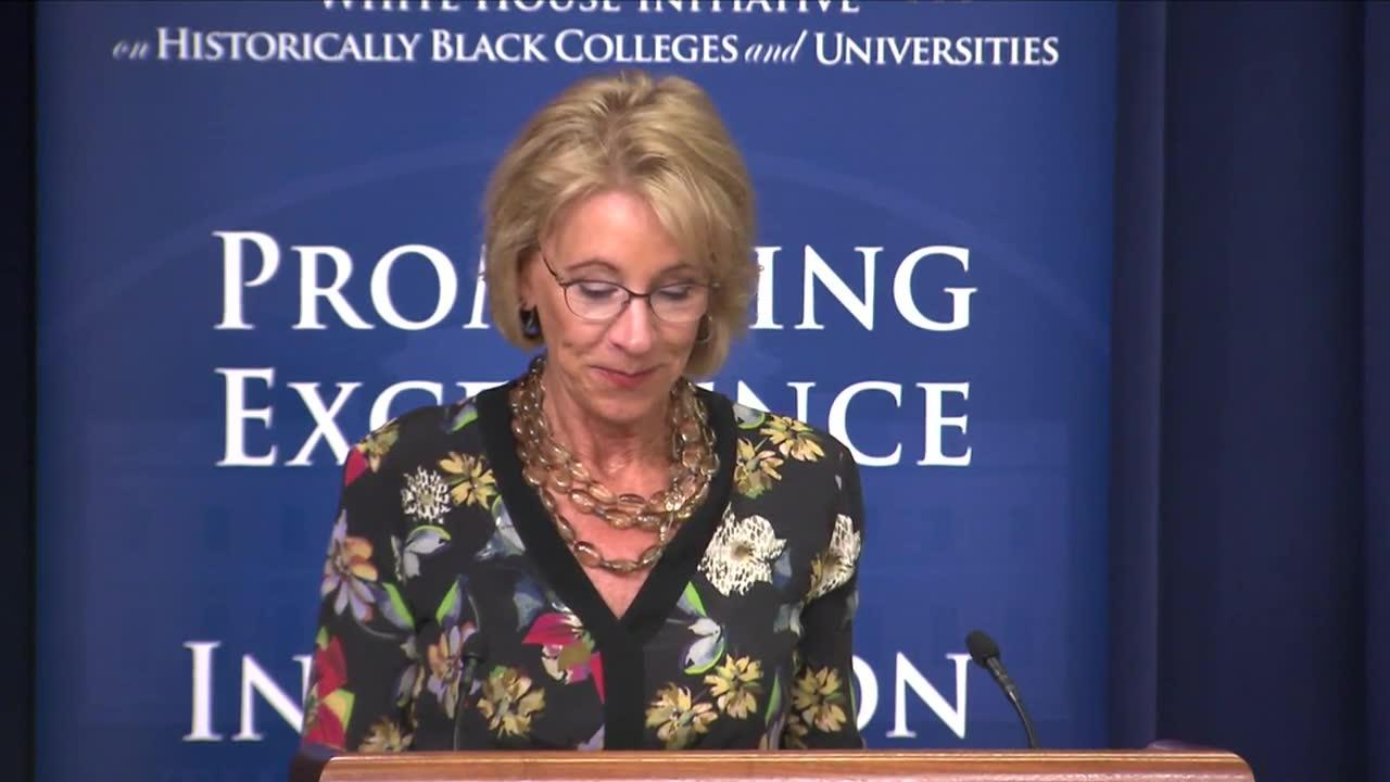 Devos: Historically Black Colleges Are 'Priority' For Trump Admini_...