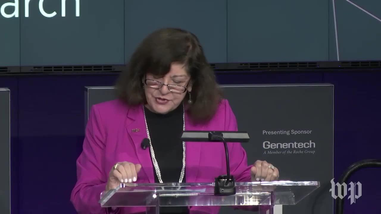 American Association For Cancer Research Ceo Margaret Foti Present_...
