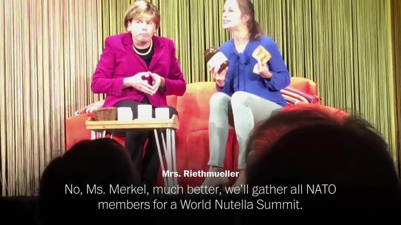 Germans Turn To The Cabaret To Make Sense Of Angela Merkel