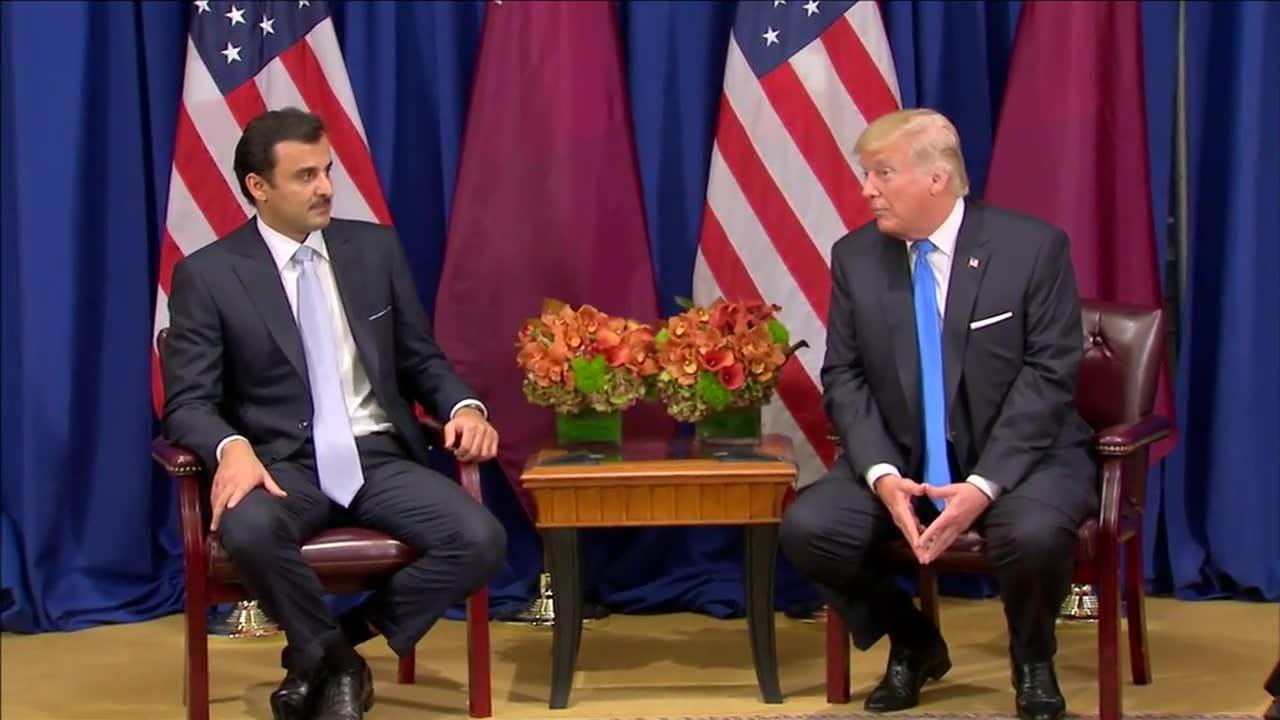 Trump Meets With Emir Of Qatar