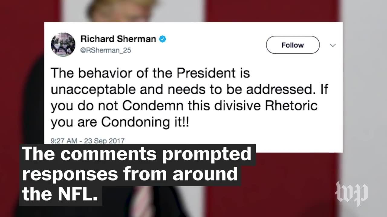 How The Sports World Reacted To Trump'S Comments On The Nfl And St_...