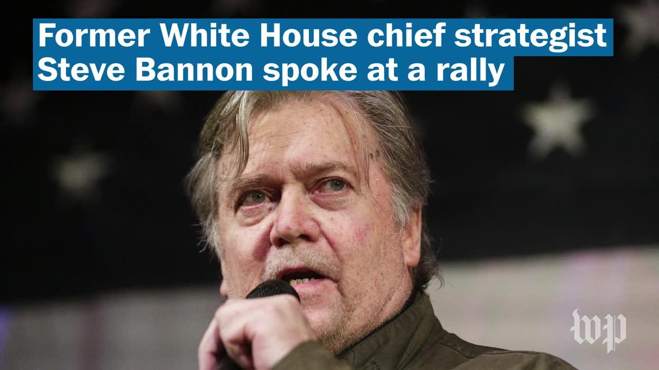 Bannon Headlines Rally For Roy Moore In Alabama Runoff