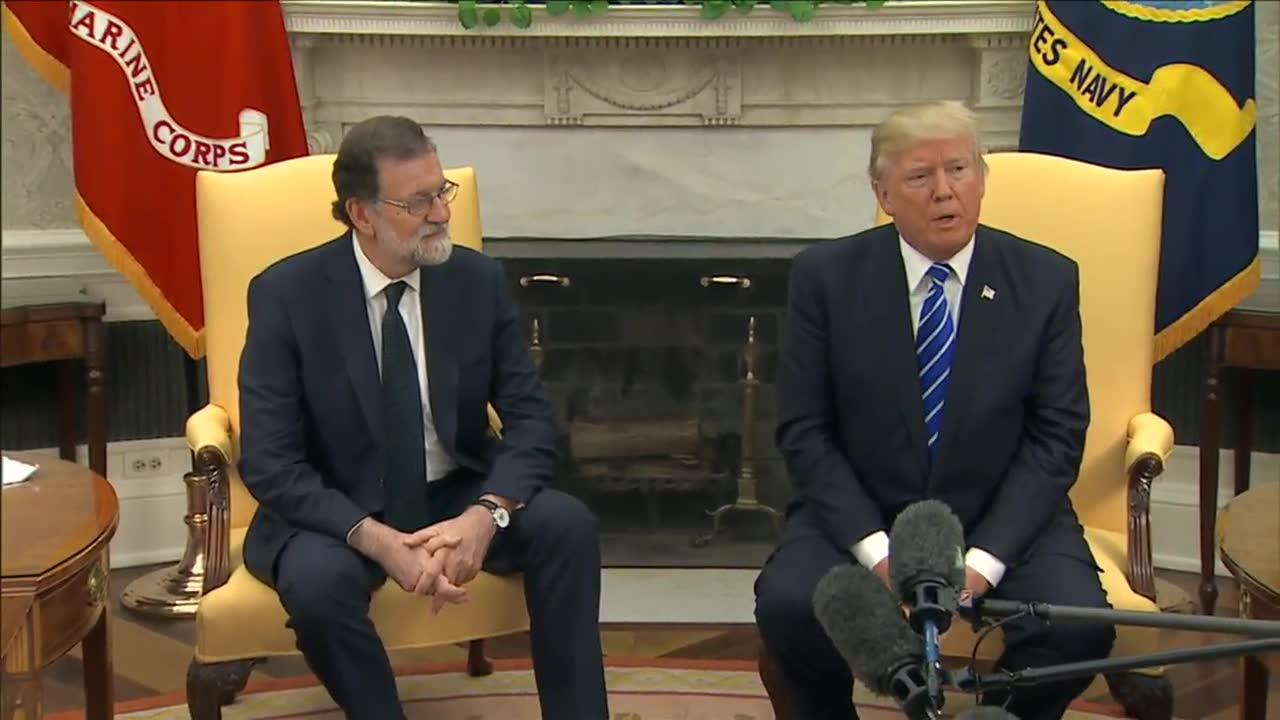 Trump Welcomes Spanish Prime Minister To The White House