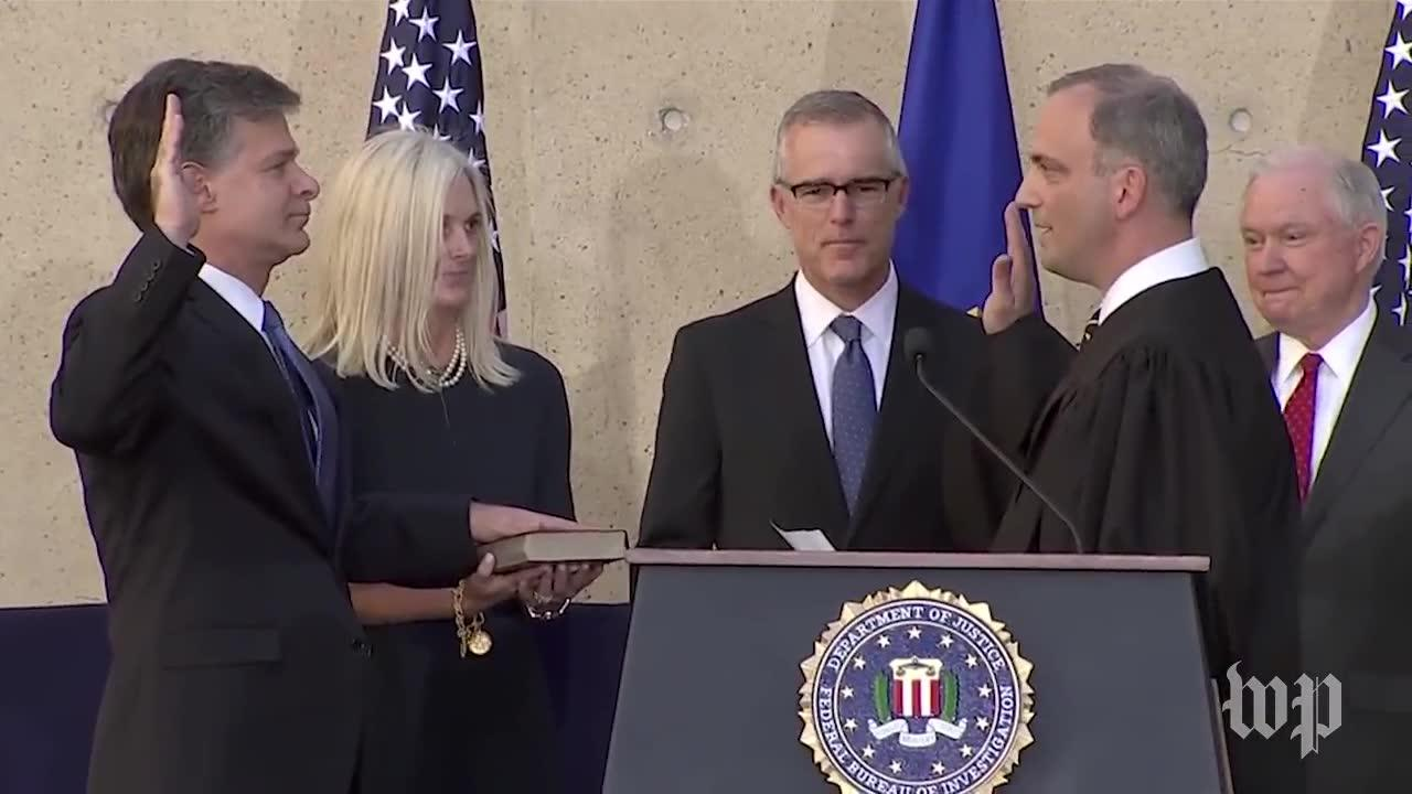 Wray Takes Oath Of Office As Fbi Director