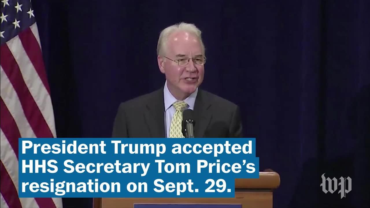 Hhs Secretary Tom Price Resigns