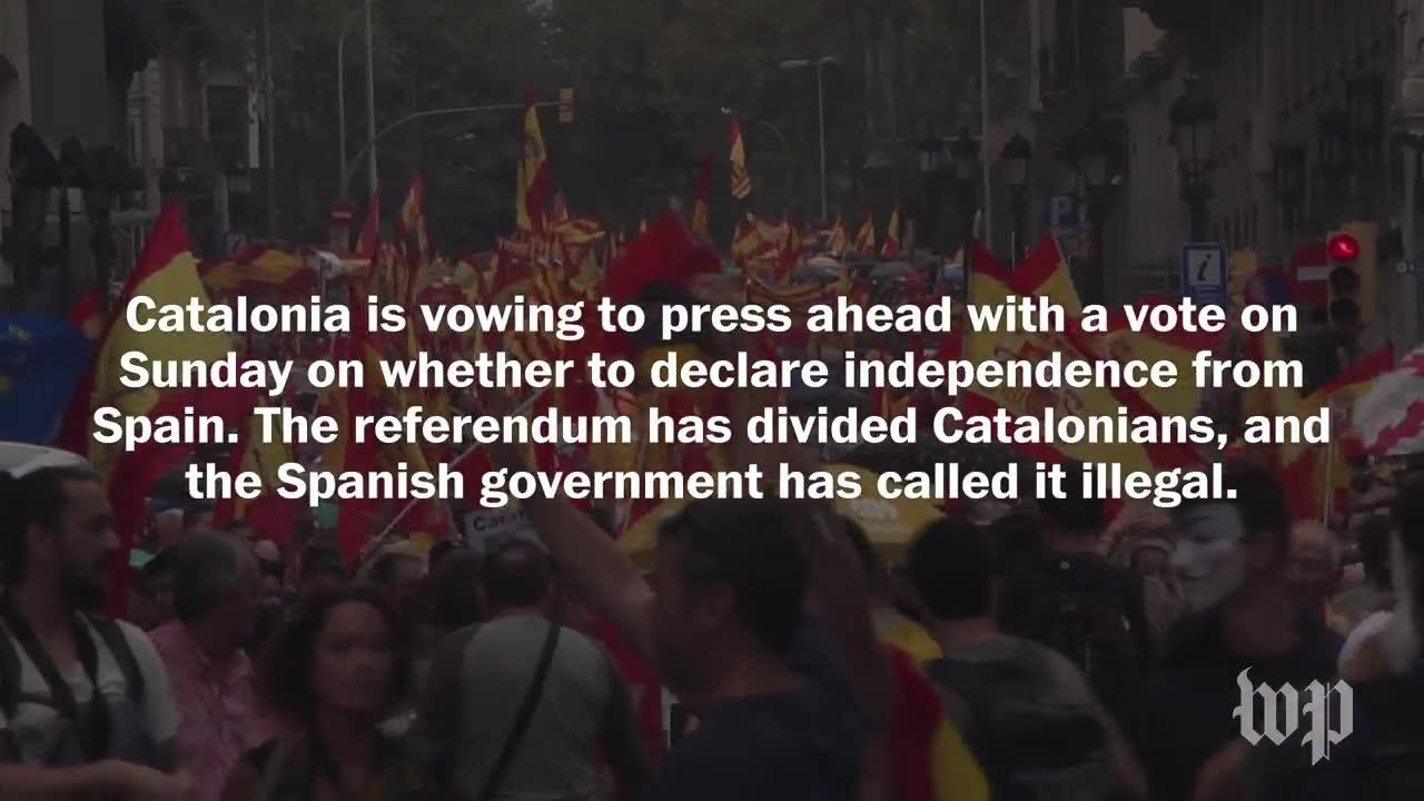 'We Are Not The Silent Majority Anymore:' Pro-Spain Catalonians Ma_...