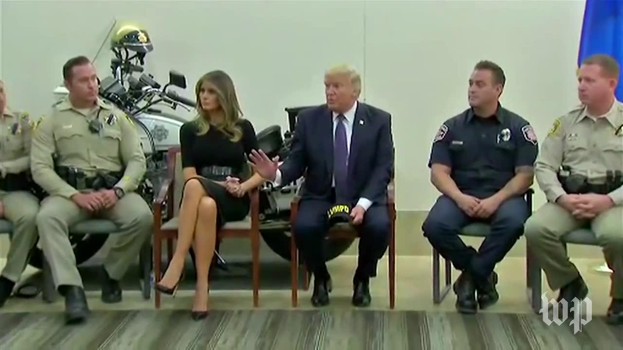 Trump Meets With Las Vegas Police After Shooting